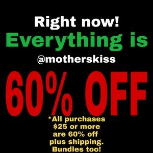 Other - 60% OFF NOW @MOTHERSKISS